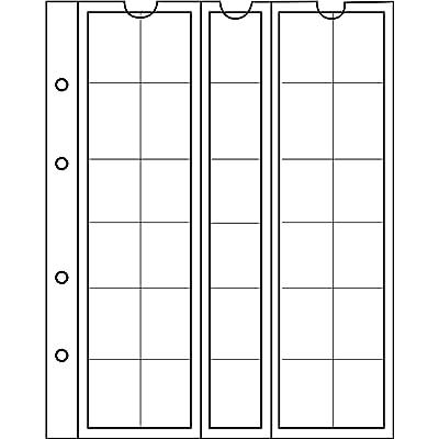5 Prophila Kobra Hojas para Monedas, de 30 divisiones de 25 mm Ø: Juguetes y juegos