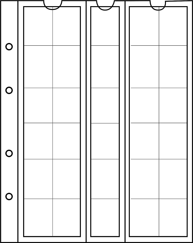 2 DM 30 Pockets up to 25 mm /Ø e.g 10 Numismatic Prophila Kobra Coin Sheets 5 DM