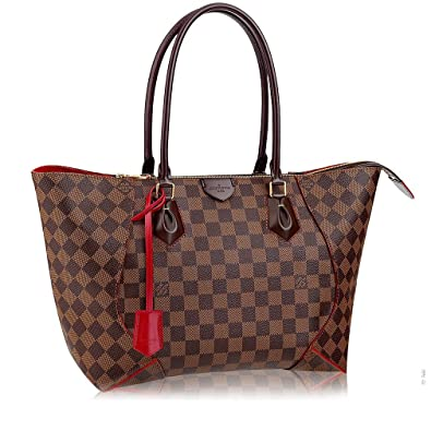 Amazon.com  Authentic Louis Vuitton Damier Caissa Tote MM Handbag  Article N41548 Made in France  Shoes 7fc3ec6f46694