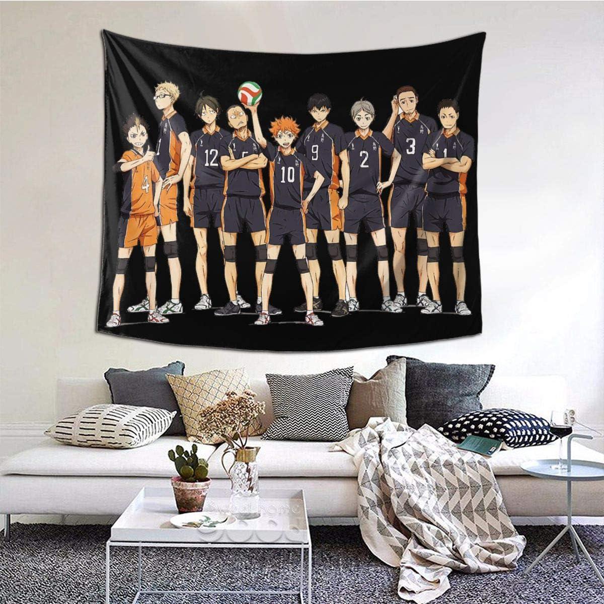 Boniuniu Haikyuu Home Decoration Tapestry for Room Wall Hanging Mural Bedroom Living Room – 60 X 51 Inch