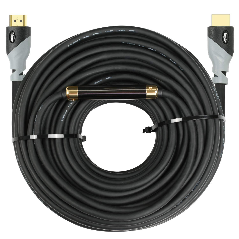 Cable HDMI de alta velocidad Tainston / Cable HDMI (75 pies / 75 pies) Versión 2.0 Amplificador de señal incorporado, CL