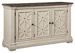 Ashley Furniture Signature Design - Bolanburg Dining Room Server - Vintage Casual - Weathered Oak/Antique White