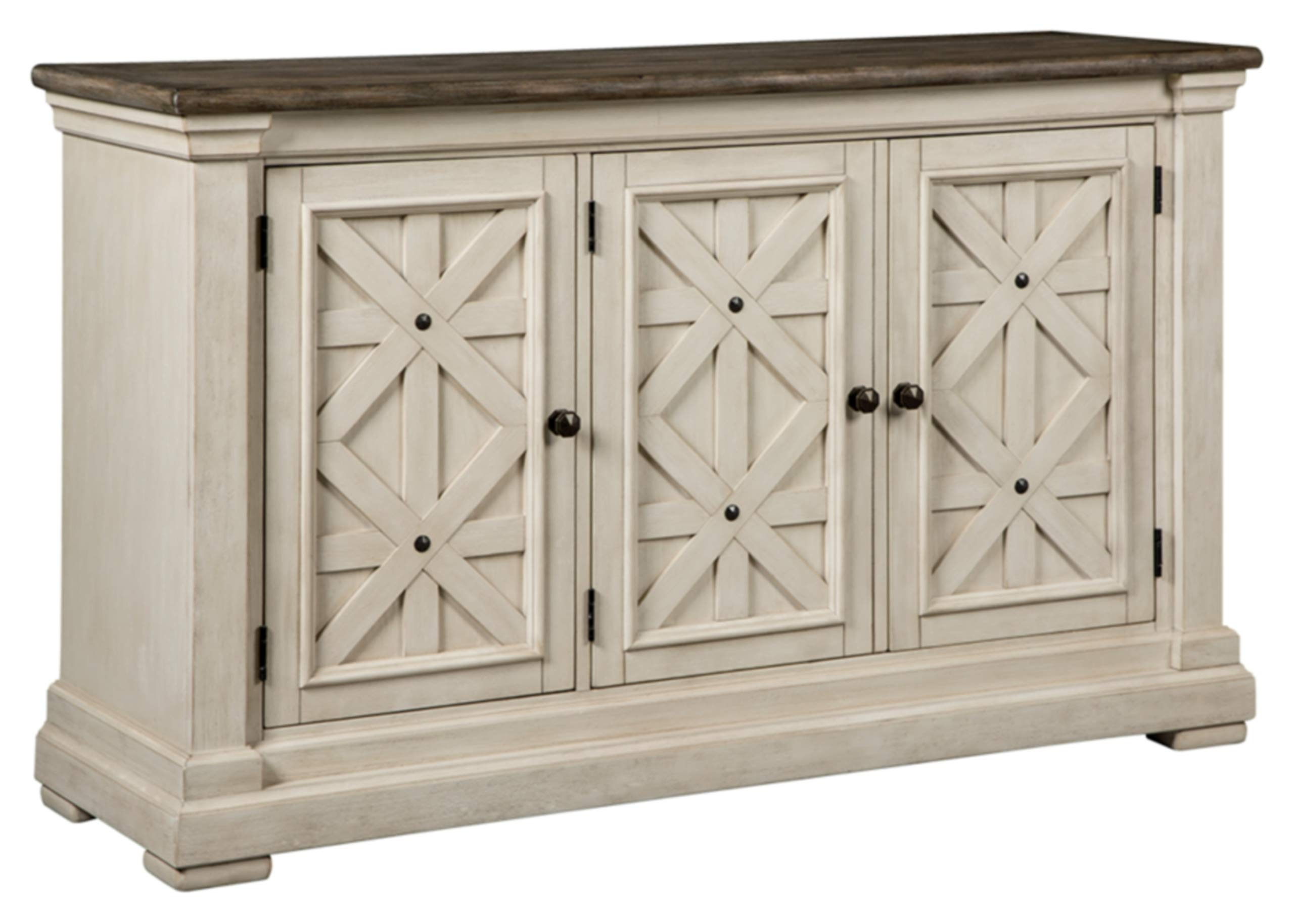 Ashley Furniture Signature Design - Bolanburg Dining Room Server - Vintage Casual - Weathered Oak/Antique White by Signature Design by Ashley (Image #1)