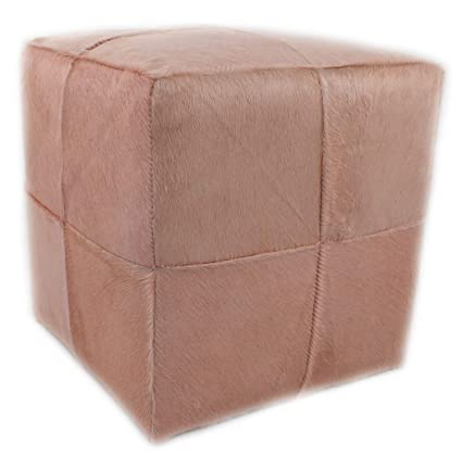 Tremendous Amazon Com In The Garden And More Blush Dyed Cowhide Cube Creativecarmelina Interior Chair Design Creativecarmelinacom