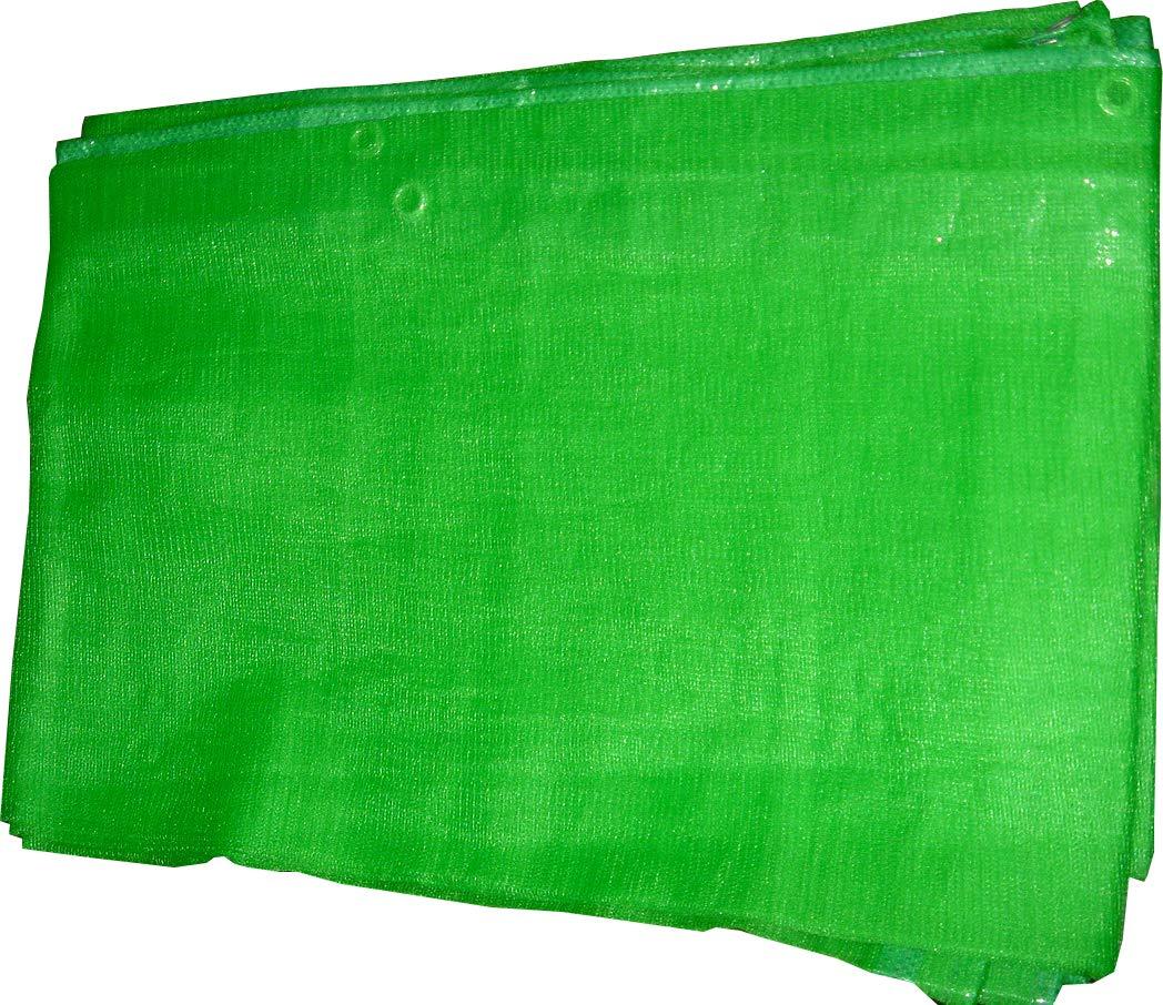ウイングエース ラッセルメッシュシート 防炎 (1.8×5.1) グリーン 10枚入り B01KXH6IIC