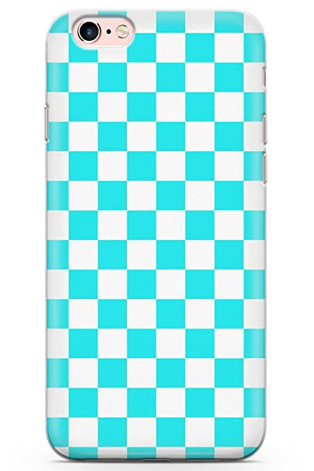 finest selection 783d2 b0b94 Case Warehouse iPhone 6 Case, iPhone 6s Blue Checkered Phone Case Clear  Ultra Thin Lightweight Gel Silicon TPU Protective Cover | Pattern  Checkerboard ...