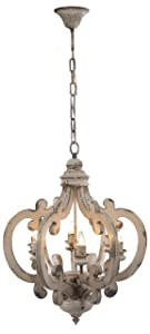 """A&B Home Wood and Metal Chandelier 20.5"""" x 18"""" x 24"""""""