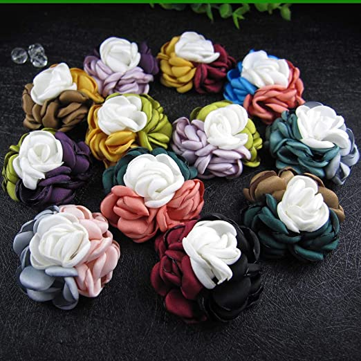 Amazon.com: ORCHILD Flora flower headband!12pcs/lot 2inch ...
