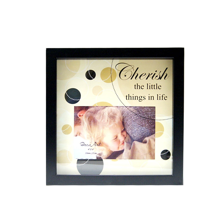 Truu Design, Shadow Box Cherish Photo Frame, 4 x 6 Inches, Black CTG Brands Inc 57861DC-CHERISH
