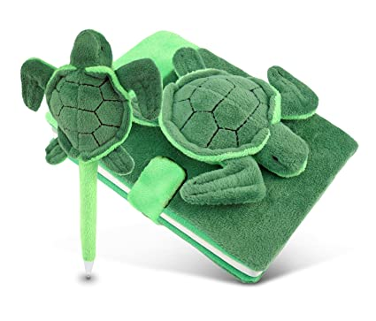 Amazon.com: Puzzled Plush Tortugas de mar Cuaderno Y ...