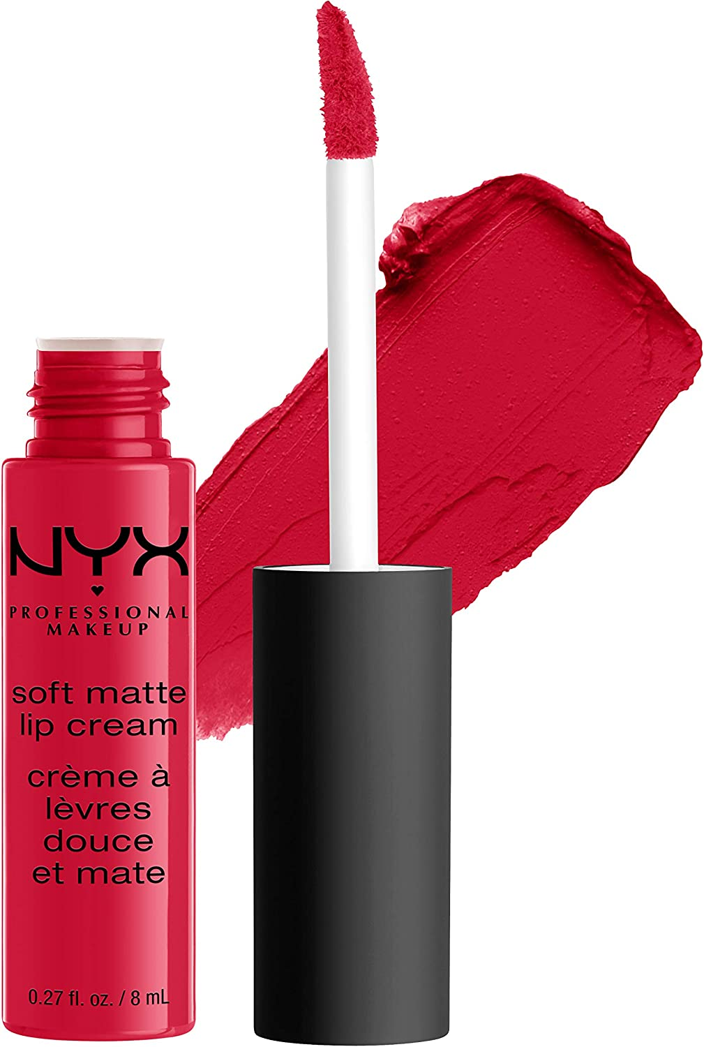 NYX Professional Makeup Pintalabios Soft Matte Lip Cream, Acabado cremoso mate, Color ultrapigmentado