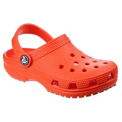 6ab4c246cf Amazon.com | Crocs Kids Classic Tangerine Clogs Sandals Size | Shoes