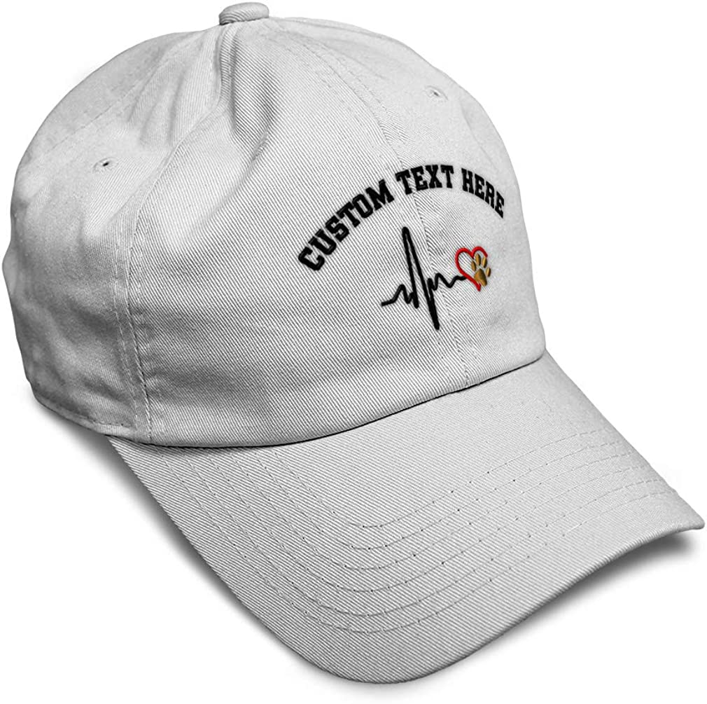 Custom Soft Baseball Cap Love Dog Paw Lifeline Style B Embroidery Twill Cotton