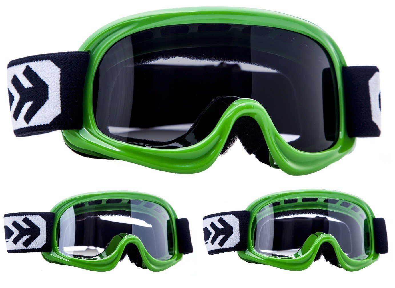 "white /· Cross Enfant /· Moto Windproof Ski MX Lunettes de Protection Masques de Moto Cross /· Black // Silver // Clear Armor /· AG-49 /""White/"""