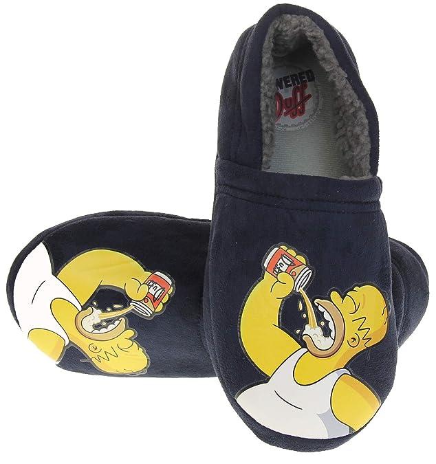 Los Simpsons Hombre Azul Homer Duff Comodidad Zapatillas de la Novedad
