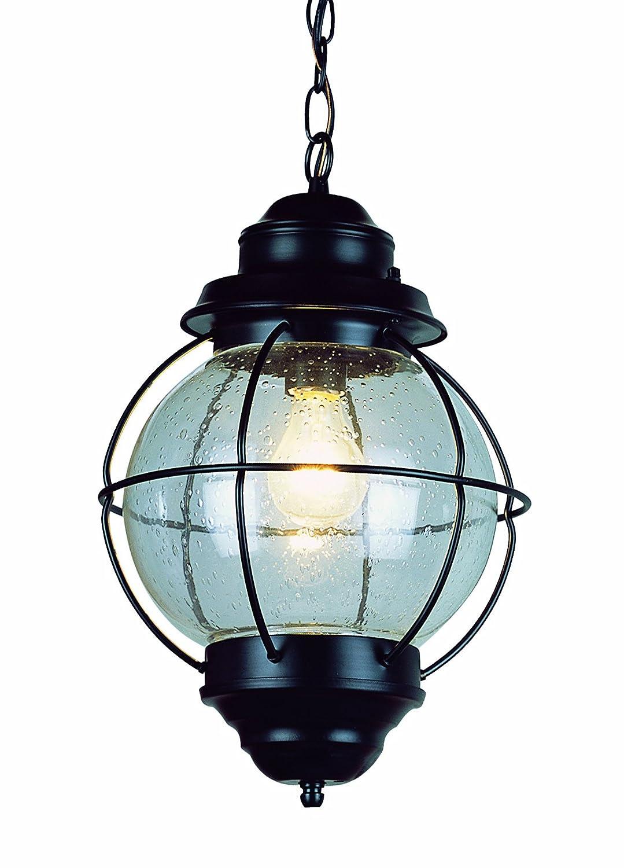 Trans Globe Lighting 69903 Bk Outdoor Catalina 13 5 Hanging Lantern Black Pendant Porch Lights Com