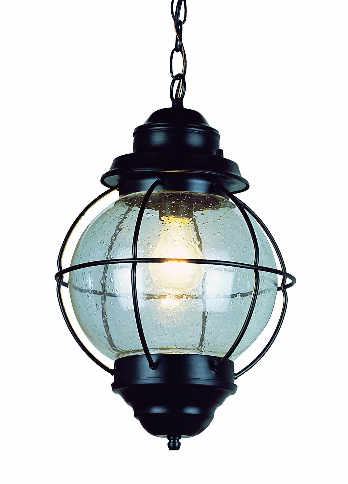Trans Globe Lighting 69903 BK Outdoor Catalina 13.5'' Hanging Lantern, Black