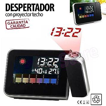 Reloj Despertador con Proyector LED para pared techo TiendaStore®