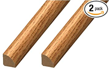 Calflor Md20032 Quarter Round X X 94 Floor Base Molding For Wood Laminate Wpc Lvt Vinyl 2 Pack Natural Oak 2 Piece