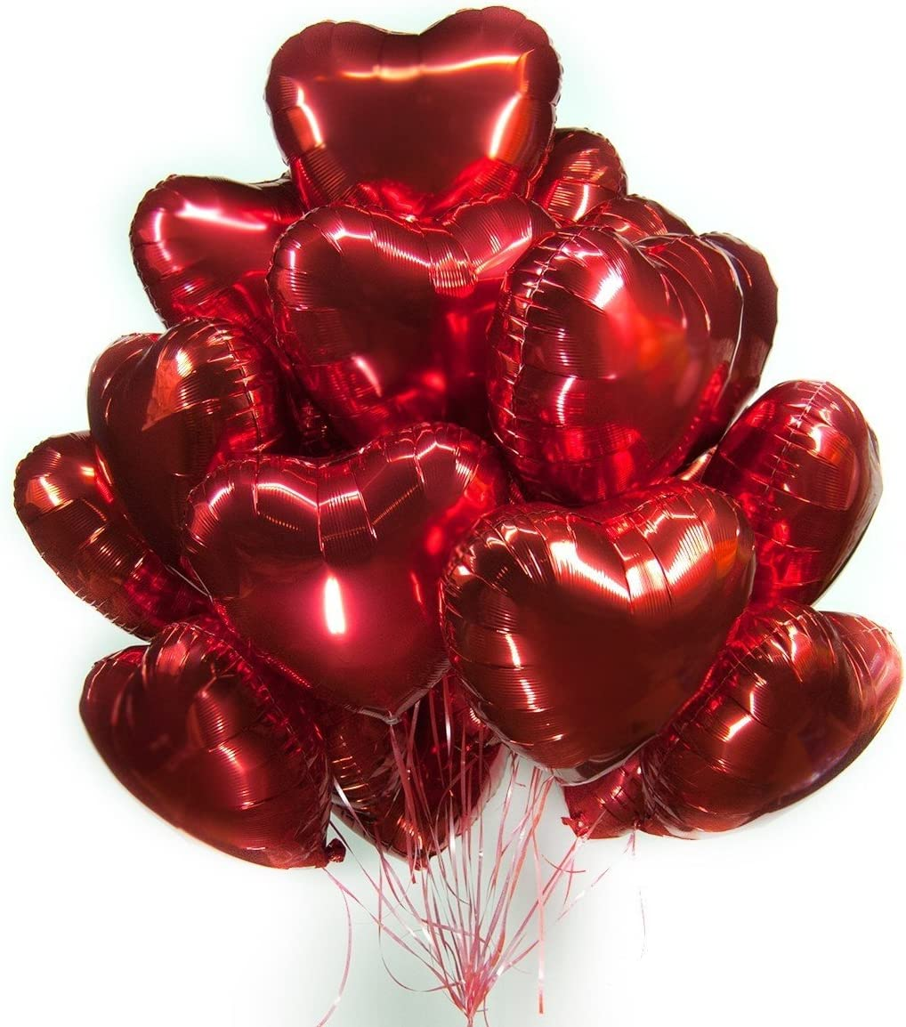 5 x Folienballon Herz Heliumballon Valentinestag Geburtstag Hochzeit Farbauswal