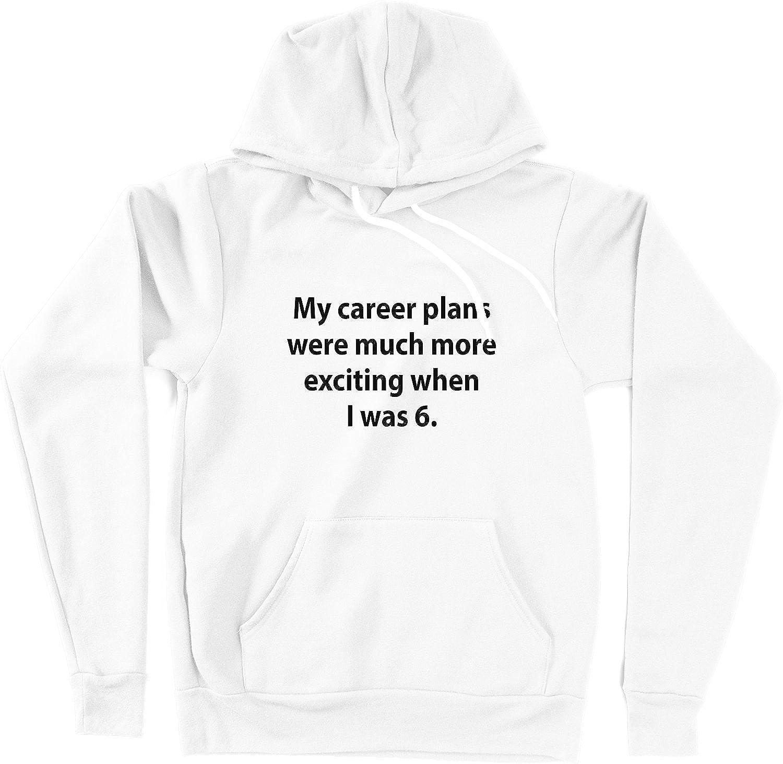 VectorPlanet My Career Plans Unisex Hoodie White