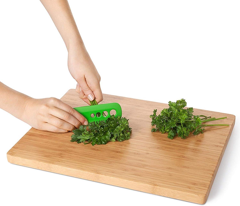 Timo rosmarino Verde basilico bietola tanbea-IT Mini Herb Stripper Spogliarellista a 4 Fori con Pettine per spogliarello Pealer alle Erbe per Cavolo Cavolo Riccio