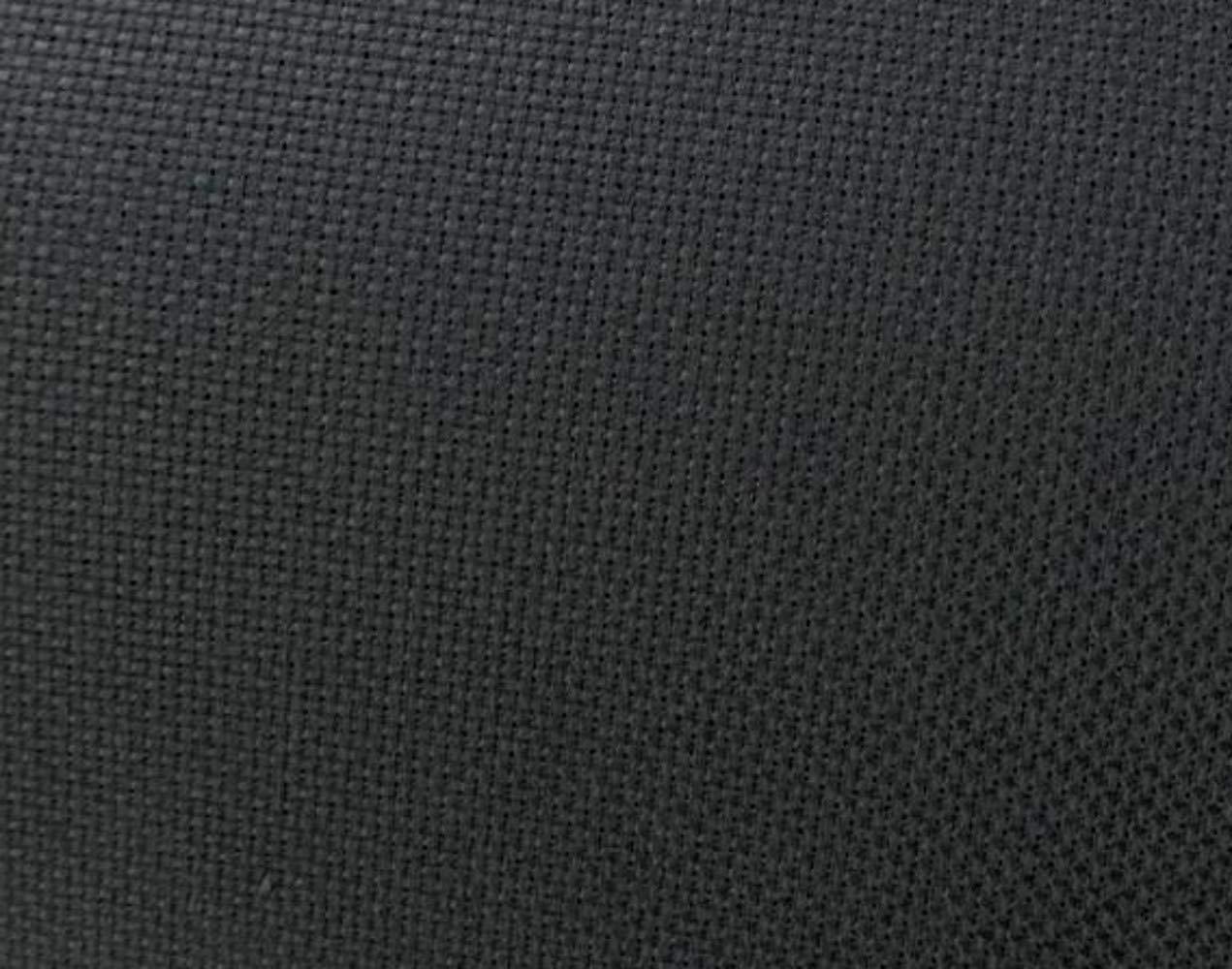60' Wide Black Aida Cloth Cross Stitch by The Yard BurlapFabric.com