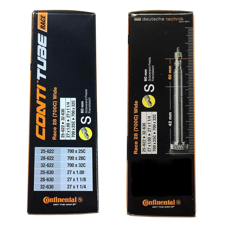 Continental Race 28 700 x 25-32c Bike Inner Tubes with Presta 60mm Valve Set of 5