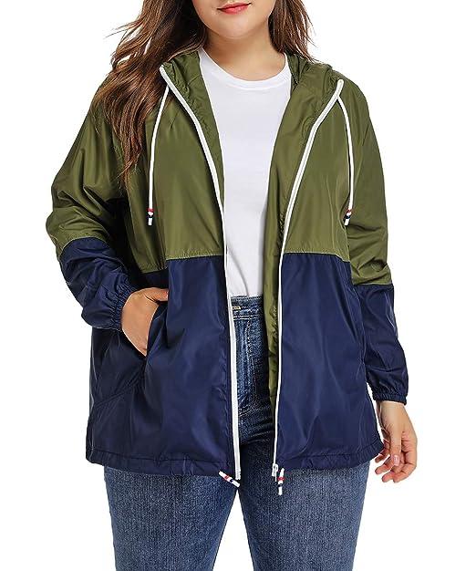 Amazon.com: Chubasquero impermeable con capucha para mujer ...