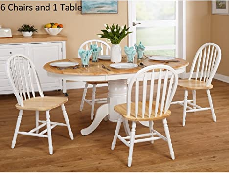 Amazon.com - Simple Living Farmhouse 7-piece White/ Natural ...