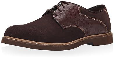 Mens Florsheim Bucktown Saddle Oxford Oxfords Shoes Brown Suede/Brown Milled OSL60056