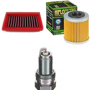 Filtro de aire Filtro de aceite Bujía Aprilia RS4 125 4T también Réplica 2011 - 2017 kit de mantenimiento servicekit: Amazon.es: Coche y moto