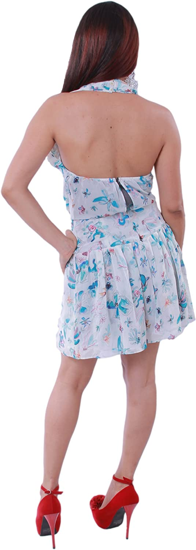 Rachel Roy Rachel Womens Printed Twisted Halter Dress