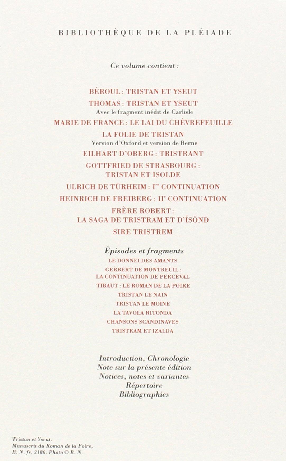 23 novembre 1995 Collectifs Gallimard 2070113353 TL2070113353 Tristan et Yseut Cuir//luxe