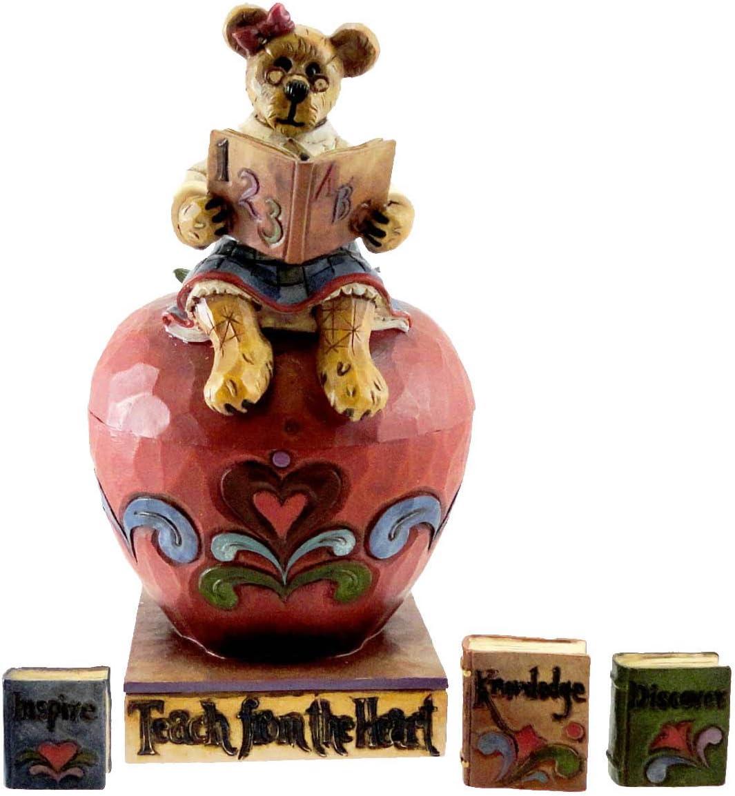 Boyd s Jim Shore Bears Teach from The Heart Apple Figurine