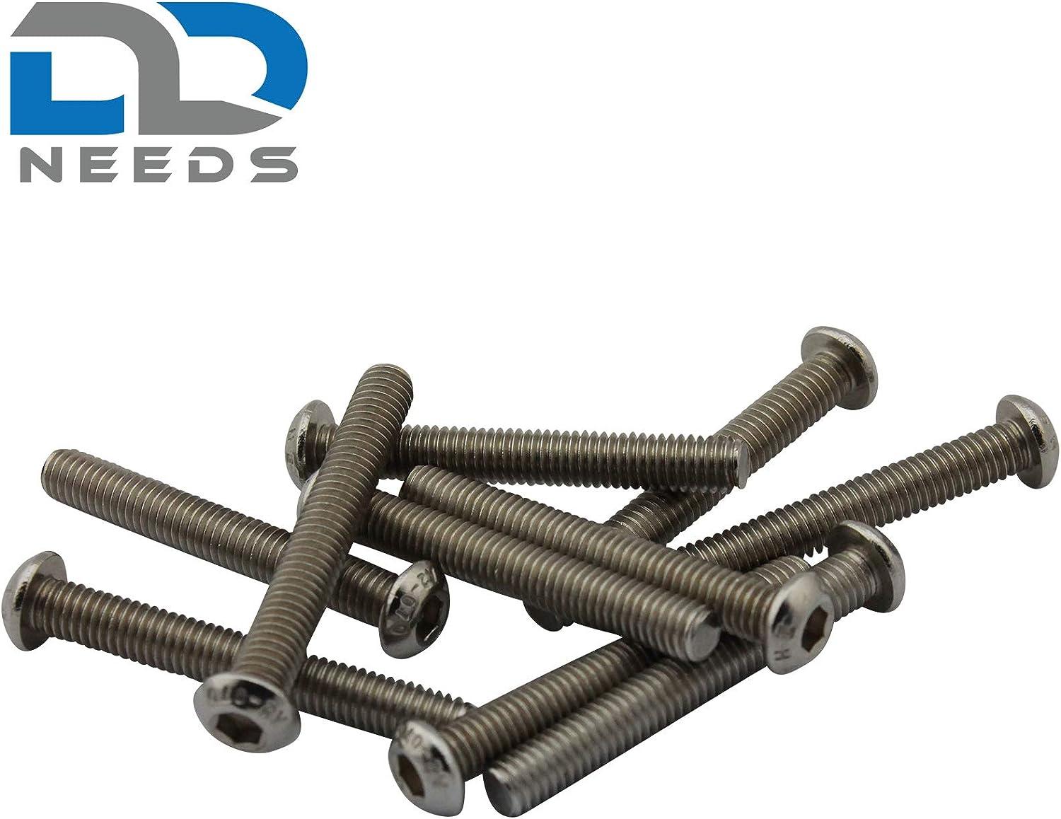 PU: 10 pi/èces vis /à t/ête cylindrique D2D Vis /à t/ête plate M4 x 25 mm avec six pans creux ISO 7380-1 en acier inoxydable A2 V2A