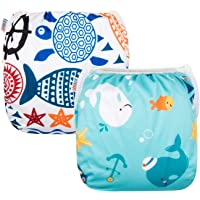 Alva Baby Swim Diapers Reuseable One Size for Boys and Girls 2pcs DYK05-06