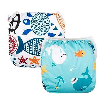 Amazon.com: Pañales para nadar Alva Baby 2 piezas ...