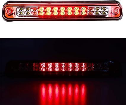 SMOKED 3RD THIRD WHITE//RED LED BRAKE LIGHT FOR CHEVY//GMC SIERRA C//K C10 GMT400