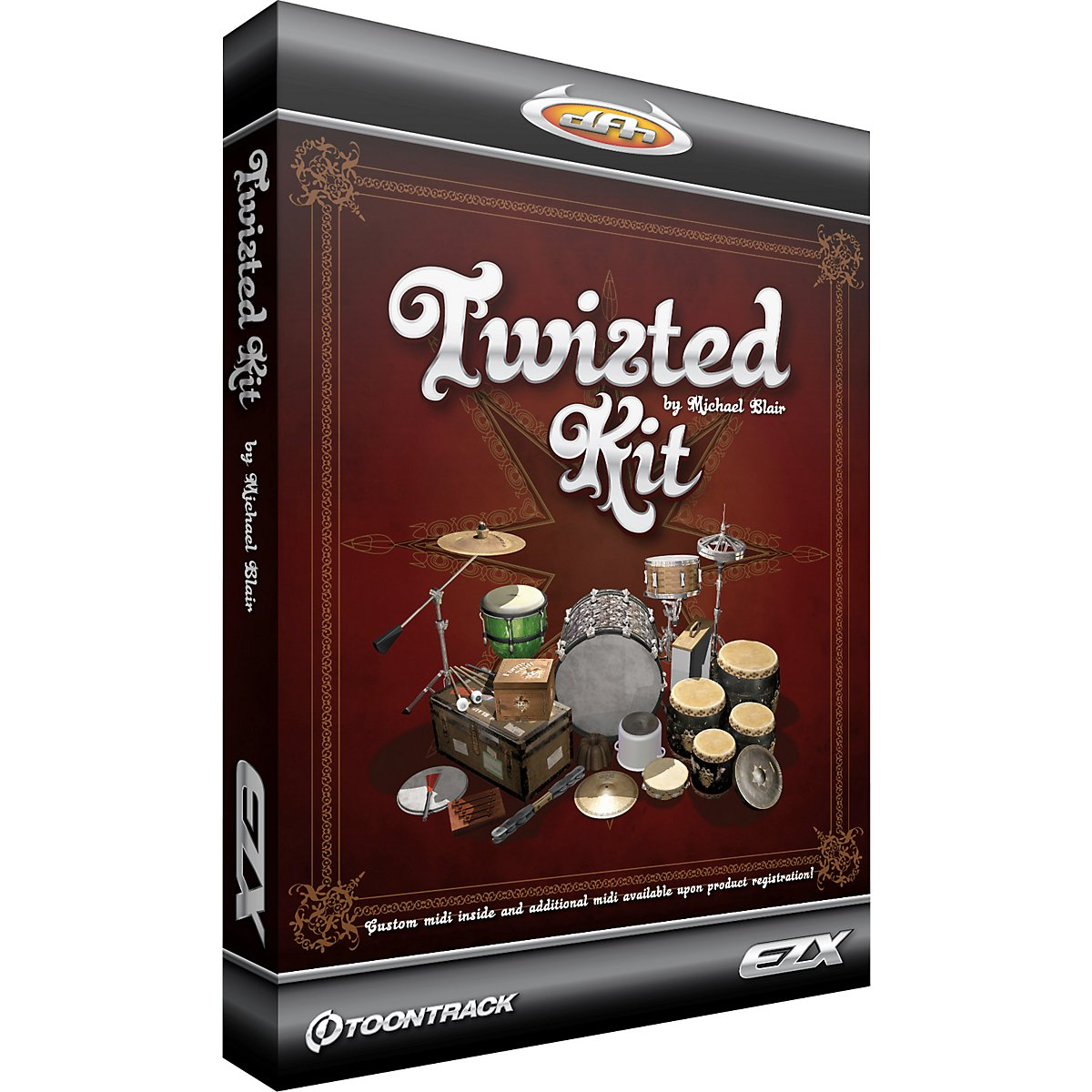 Toontrack Twisted Kit EZX Expansion Pack Software for EZdrummer – Sampled by Michael Blair – Expansive MIDI Library – Includes Download Key