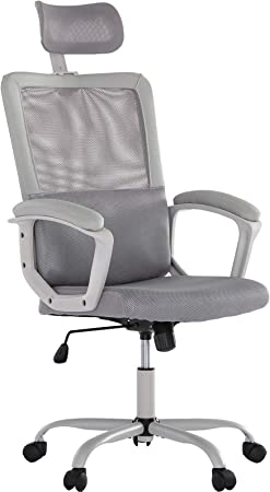 Amazon Com Smugdesk Ergonomic Office Chair Adjustable Headrest Mesh Office Chair Office Desk Chair Computer Task Chair Office Products