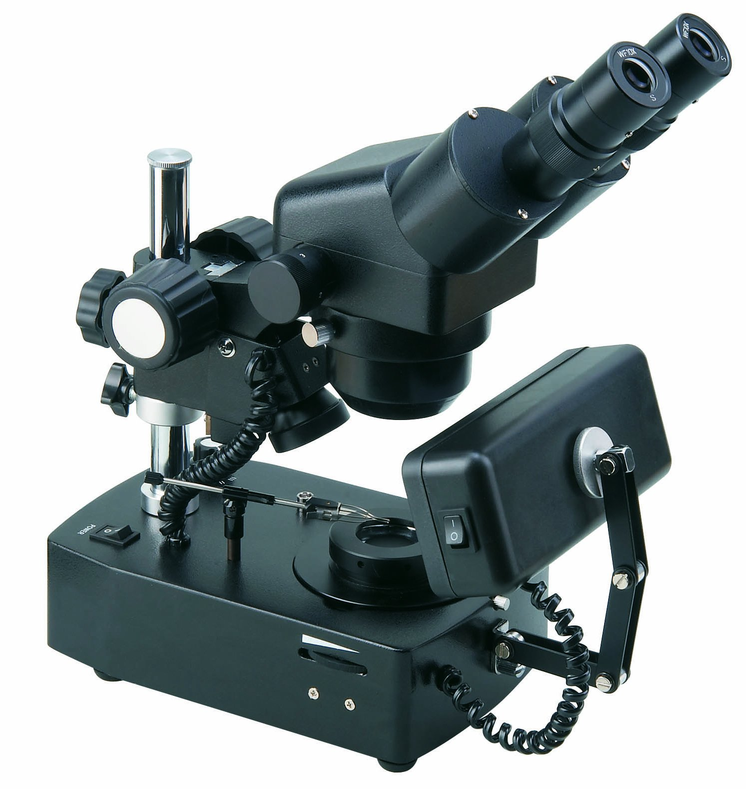 BestScope BS-8030B Gemological Binocular Zoom Microscope, WF10x Eyepieces, 20x-40x Magnification, Brightfield and Darkfield Illumination, Halogen and Fluorescent Light Sources, 110V by BestScope