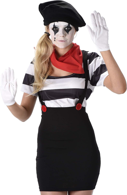 Karnival Costumes - Disfraz de mimo para Mujer: Amazon.es ...