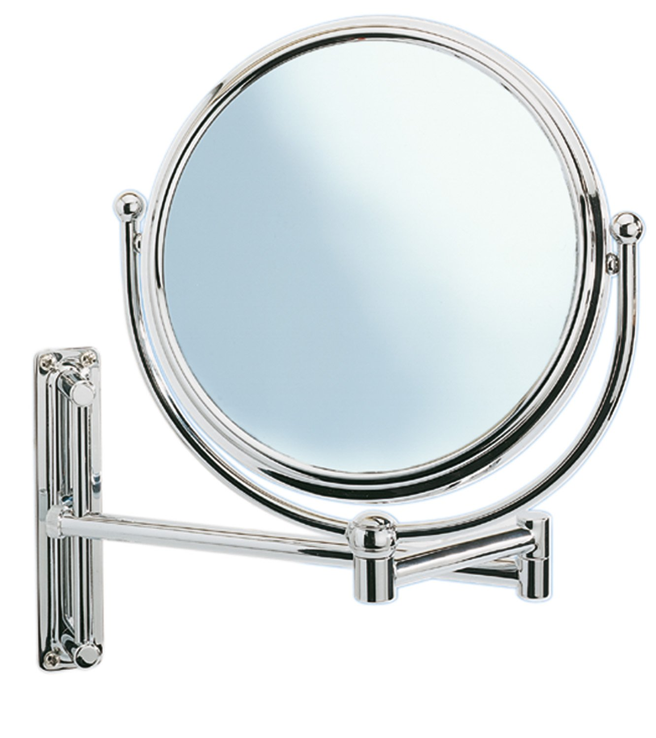Deluxe Swivelling Arm Cosmetic Wall Mirror, 5-x magnification, Diam 20 cm, Chrome Wenko Wenselaar 3656211100 Gift_Sets Kitchen Accessories