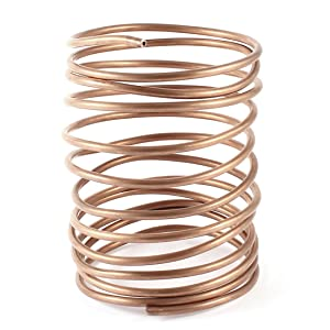 uxcell a14030400ux0182 3.2M 10.5Ft Long 3mm Dia Copper Tone Refrigeration Coiled Tubing Coil Model: