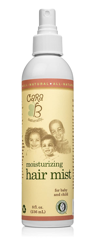 CARA B Naturally Moisturizing Hair Mist for Kids and Babies Textured, Curly Hair – Natural Hair Detangler Misting Spray Great On Sensitive Skin, Eczema-Friendly – 8 Ounces
