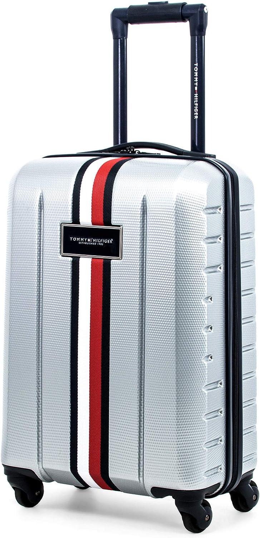 flor ampliar Marcar  Amazon.com: Tommy Hilfiger Riverdale Hardside Spinner equipaje, Gris  claro), null.list