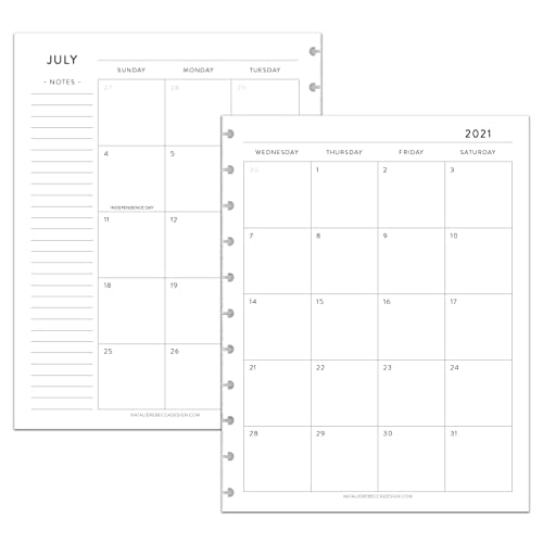 Staples Calendar 2022.Amazon Com Betternote July 2021 June 2022 Academic Monthly Calendar Disc Bound Planners Fits 11 Disc Levenger Circa Arc By Staples Tul By Office Depot Letter Size 8 5 X11 Classic Notebook Not Included Handmade