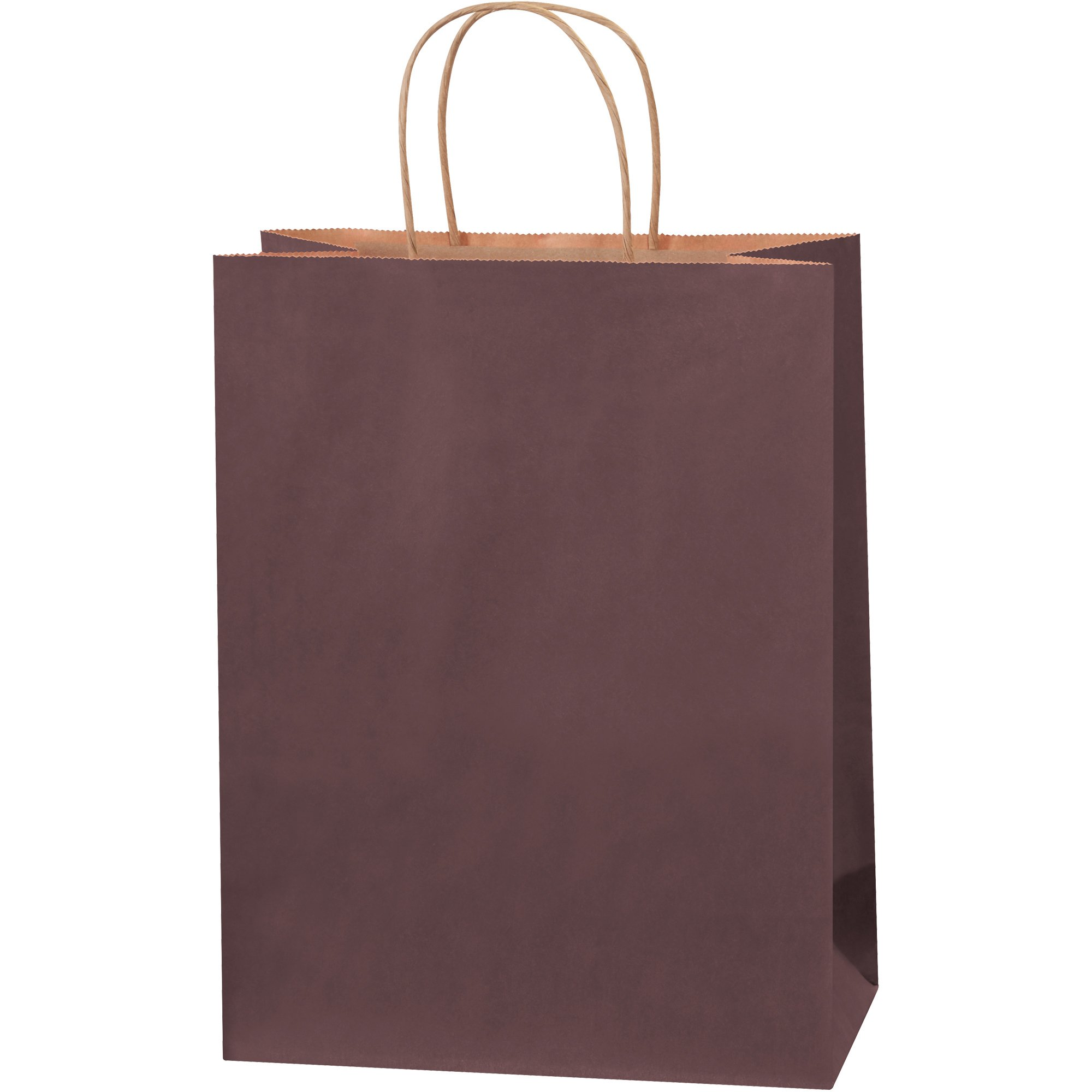 Tinted Shopping Bags, 10'' x 5'' x 13'', Brown, 250/Case