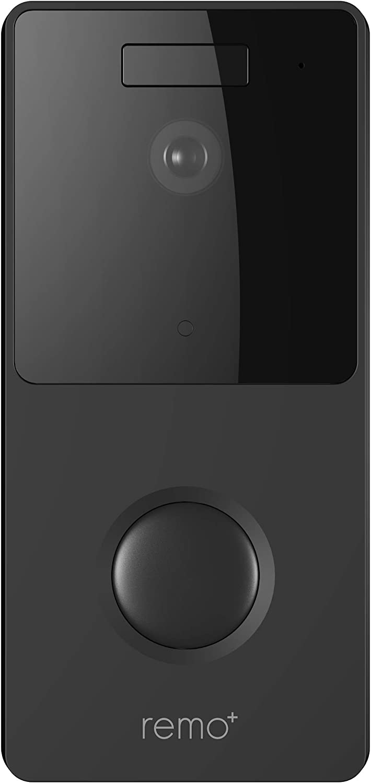 RemoBell WiFi Video Doorbell (Battery Powered, Night Vision, 2-Way Audio, HD Video, Motion Sensor) (Black)